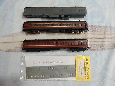 NSW HO Passenger Carriages/Kit Accessories - MAL Sleeping Cars