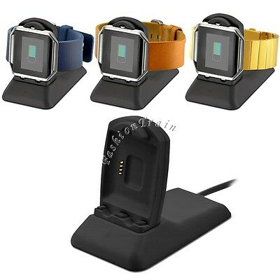 Fitbit Blaze Charger Charging Stand Accessories USB Cable Wire Charging Dock Set