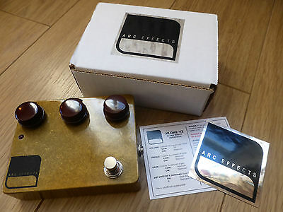 ARC Effects V2 Klon klone Effects Pedal Trans Gold Rare Limited Release