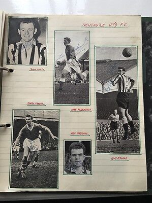 SIgned pictures Newcastle United As Shown 1950's