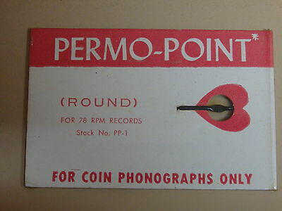 Permo Point - 78 Rpm Needle - Jukebox - Gramophone - Phonograph - New Old Stock