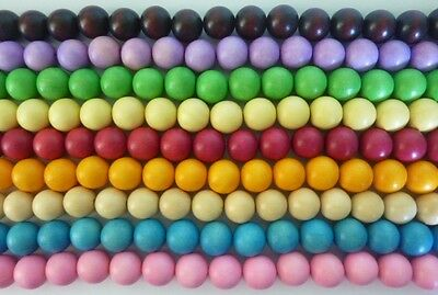 20 pce Large Dyed Wood Round Beads 20mm Tribal Jewellery Craft