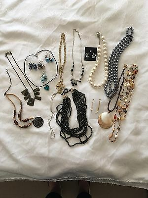 Bulk Lot Of Costume Jewelry (Necklaces And Earrings)