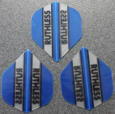 10 Packets of Brand New Ruthless Extra Strong Darts Flights - Light Blue