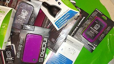 WHOLESALE LOT of 40 pcs cell phone cases and chargers