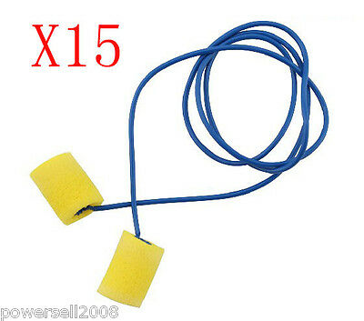 Noise Abatement Measures Protection Ear Sound Isolation Yellow Earplug 15 PCS