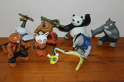7 x McDonalds Happy Meal Kung Fu Panda Toys