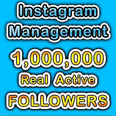 1 Million (1000k 1m) Real, Active, Targeted Follower s On Your Instagram Account