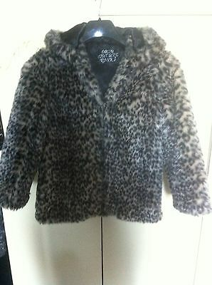 Girls Faux Fur Coat Size 10/11Yrs