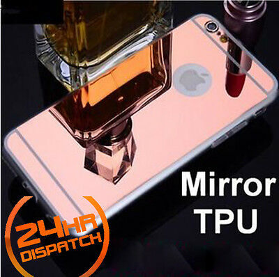 Luxury Ultra-thin TPU RoseGold Mirror Metal Case Cover for iPhone 6/6s {{no84