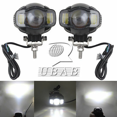 2X USB Chargable Motorcycle LED Headlight Fog Lights Lamp for BMW K1600 R1200GS
