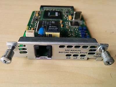 Cisco WIC-1ADSL 1-port ADSLoPOTS WAN Interface Card for router 2600/2800/3600...