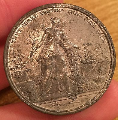 Scarce Preliminaries Of Peace Between Great Britain And France Medal, 1801
