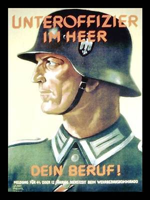 Army Heer Officer Recruitment Poster Photo Germany WW2