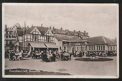 Postcard - View of the Overstrand Cafe, Boscombe, Hampshire. Unposted.