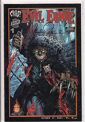 EVIL ERNIE returns#1NM-=SIGNED BY BRIAN PULIDO with COA=SWEET!