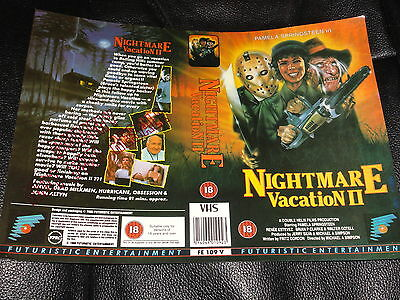 Rare Sample  Vhs Cover ..nightmare Vacation 2 ....18