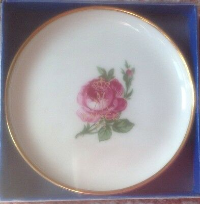 Pretty Alboth Kaiser Bavaria Germany Alka Kunst Gold Edged Floral Dish Boxed