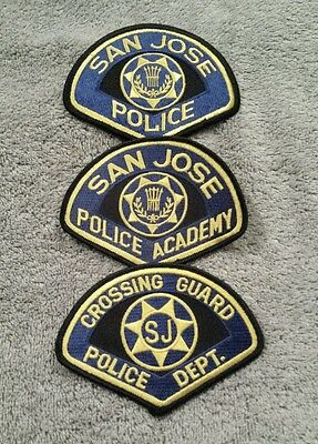 Lot of 3 San Jose CA Police + Academy & Crossing Guard Patches 12/16 - 006