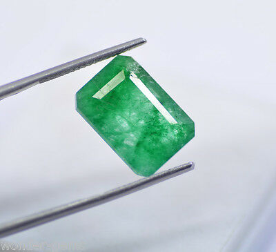 Exclusive 9.25 Ct Natural Emerald Shape Certified Green Emerald Loose Gemstone