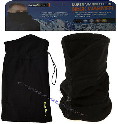 SUMMIT Fleece Snood Scarf Neck Tube Warmer Thermal Motorcycle Bike Ski Cycling