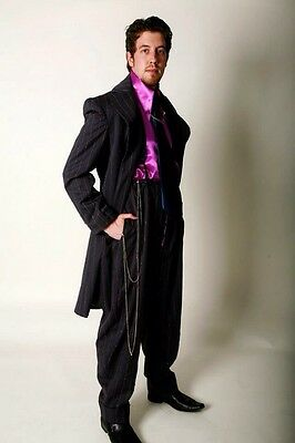 Navy And Pink Stripe Zoot Suit