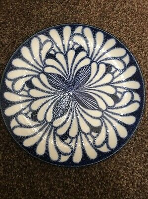 Blue Palm Midwinter Side Plate