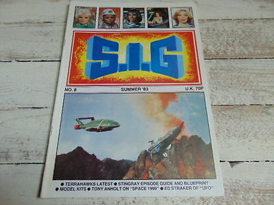 1983 Sig Supermarionation Is Go Gerry Anderson Stingray Blueprint Ufo Space 1999