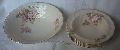 Old Chelsea fruit bowl and dishes/breakfast bowls. Flower pattern. Johnson Bros.