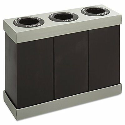 Safco Products 9798BL At-Your-Disposal Waste Recycling Center, Three 28-Gallon