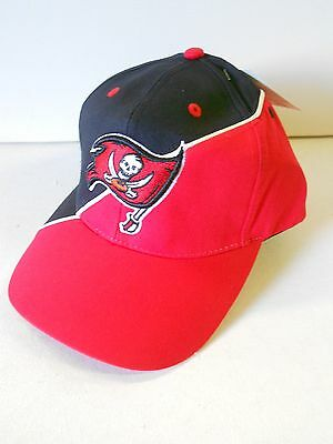 NOS Vtg Tampa Bay Buccaneers Hat Cap Official NFL Velcro ADJ With Tag Rare!