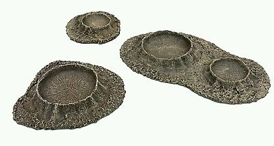 Wargames Terrain 3pc Craters - Bolt Action Flames of War Warhammer 40k UNPAINTED