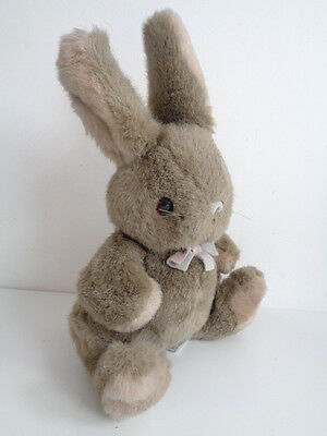"""BUNNY RABBIT SOFT TOY """"BRAMBLES"""" by RUSS BERRIE - approx 11"""" tall"""