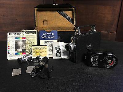 Vintage Kodak Cine Kodak Movie Camera W/Carry Case And Accessories
