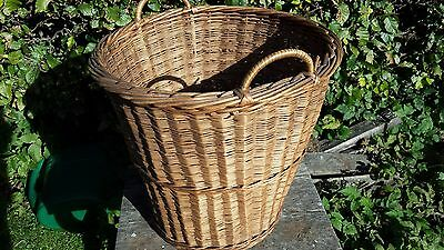 Vintage Wicker Basket with Handles for Waste Paper? or Fruit Collecting? storage