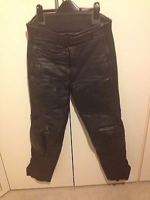 """Men's Leather Motorcycle Trousers, Size 32"""" Waist"""