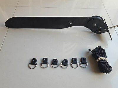 kayak rudder, d clips and cord