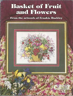'Basket of Fruit & Flowers' - Counted Cross Stitch Chart