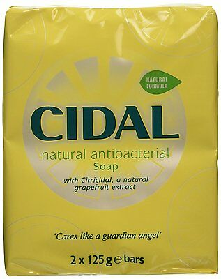 Cidal 2x125g Bars Of Natural Antibacterial Soap With Criticidal