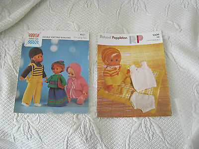 Vintage Knitting Patterns for Dolls x 2