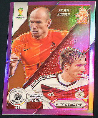 2014 Panini Prizm World Cup MATCHUPS #21 Philipp Lahm Vs Arjen Robben PURPLE /99