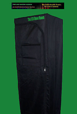 Grow Tent LED Skinny Stealth  600D Diamond Mylar, 60 x 60 x 200cm Viewing window