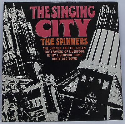 "THE SPINNERS : THE SINGING CITY EP 7"" Vinyl Single 45rpm Mono Picture Sleeve VG+"