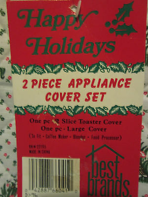 New Holiday Two Piece Appliance Cover Set Toaster + Large Cover
