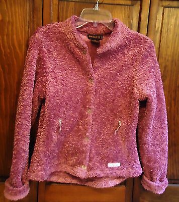 Ariat Fleece Boucle Top/ Jacket- Size Small, Pink- NICE and WARM!