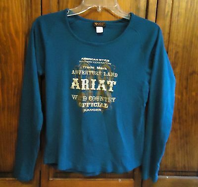 Ariat Long Sleeved Blue T-Shirt- Small- Nice Used Condition!