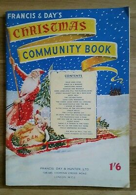 Vintage Christmas Sheet Music - Francis & Day's Community Book