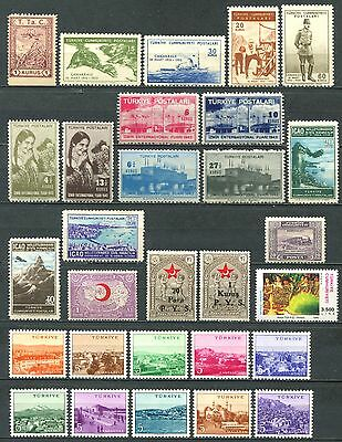 TURKEY Lot of 50 Stamps mainly Mint MNH 2 SCANS CV $18.25