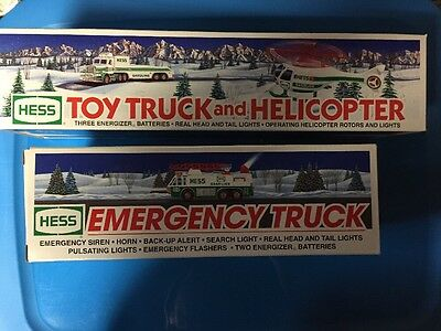 Lot Of 4 New HESS Toy Trucks 1993 - 1996 New In Box