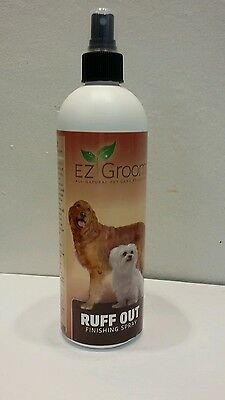 EZ Groom Professional Ruff Out Finishing Spray 16oz/480ml for Dogs